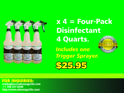 Advanage Disinfectant 4 Quarts